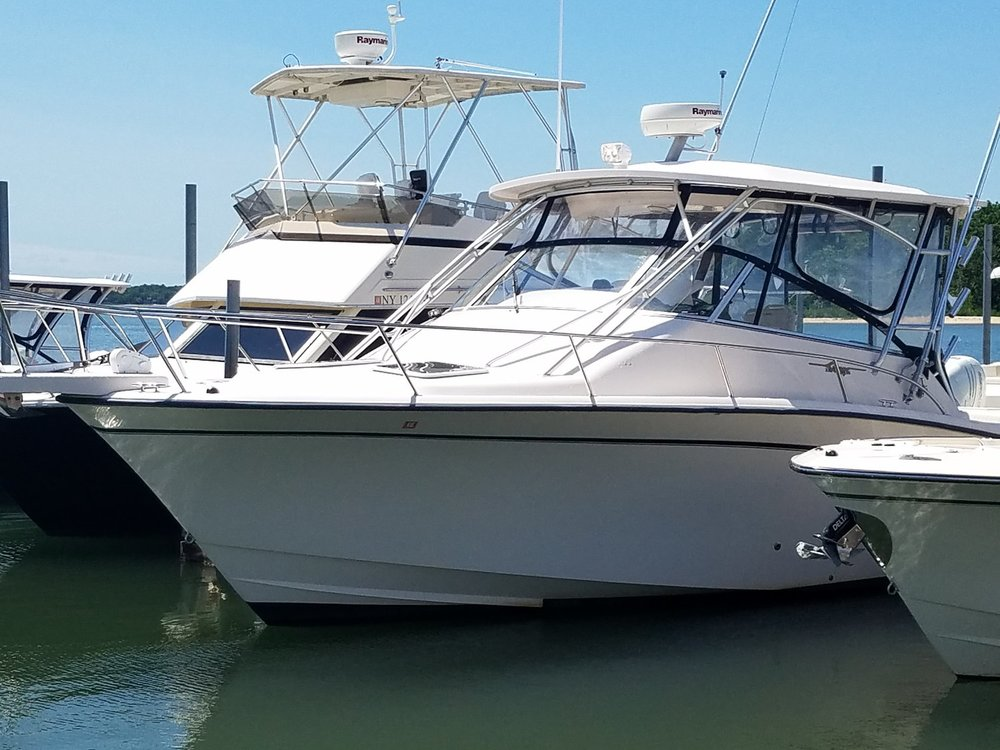 Click on the photo to check out this 2003 Grady-White Express 330 and the rest of our pre-owned inventory. WANT TO SELL YOUR BOAT? We have buyers waiting! Call 631-765-2445 or email mike@poemarine.com.