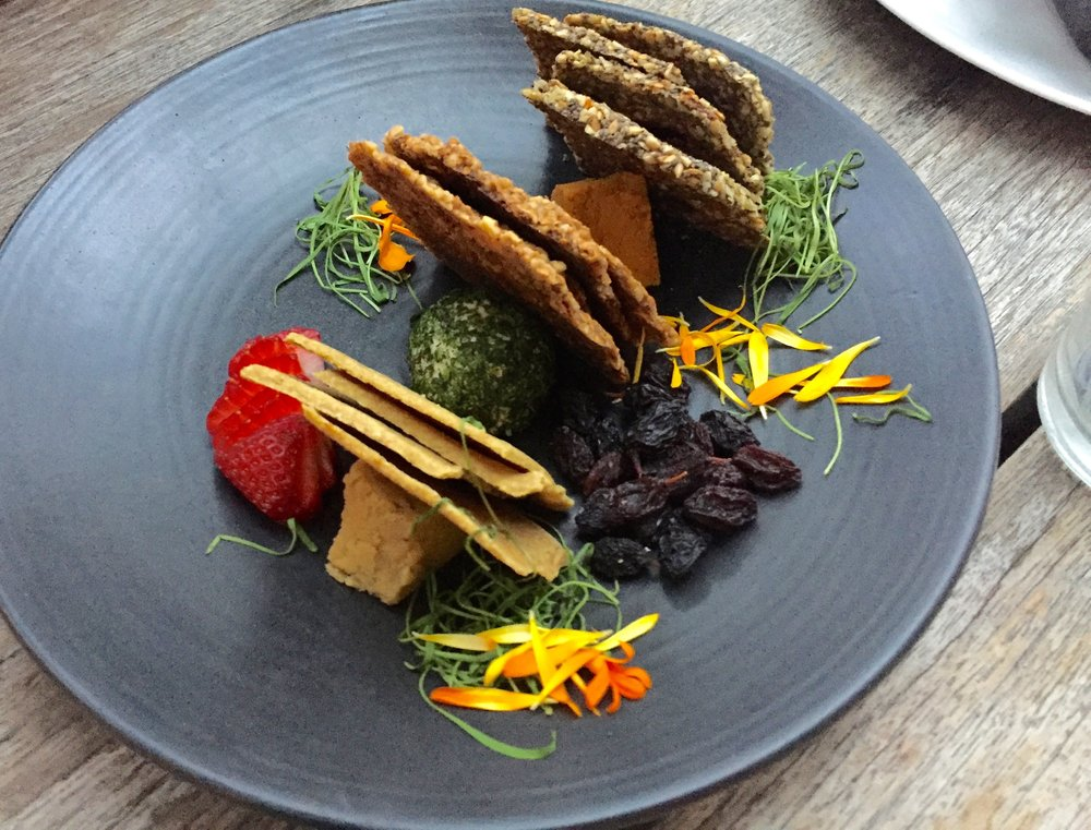 Vegan nut cheese plate at Plant Food + Wine