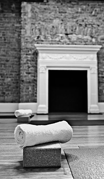 Yoga Studio and towel