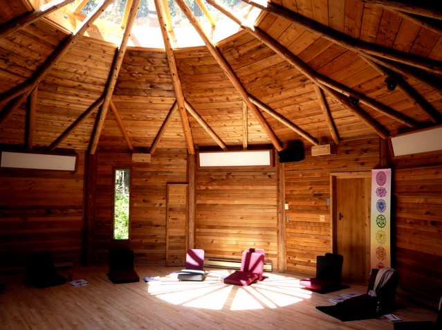 The Raven Yoga Studio at Hollyhock Retreat Centre.