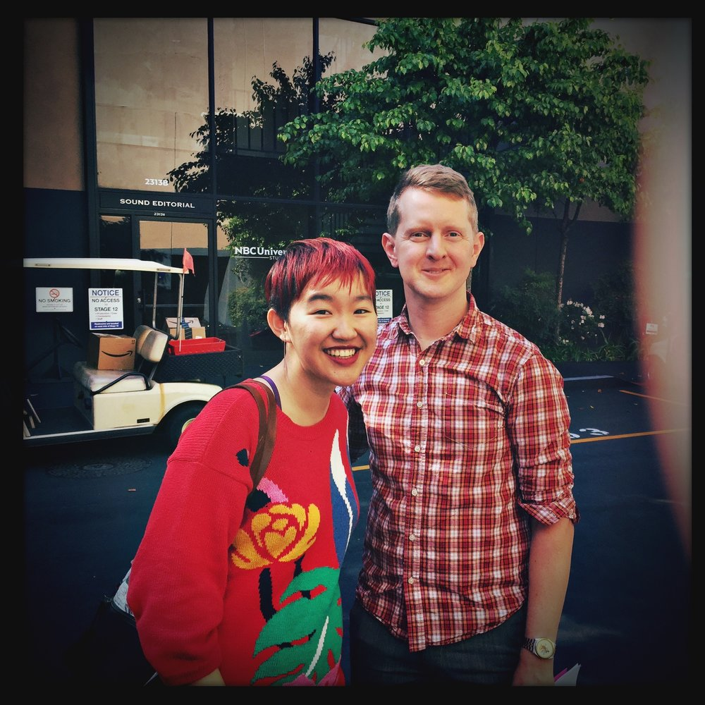 Ken Jennings! I do hope some of his skill rubbed off on me.