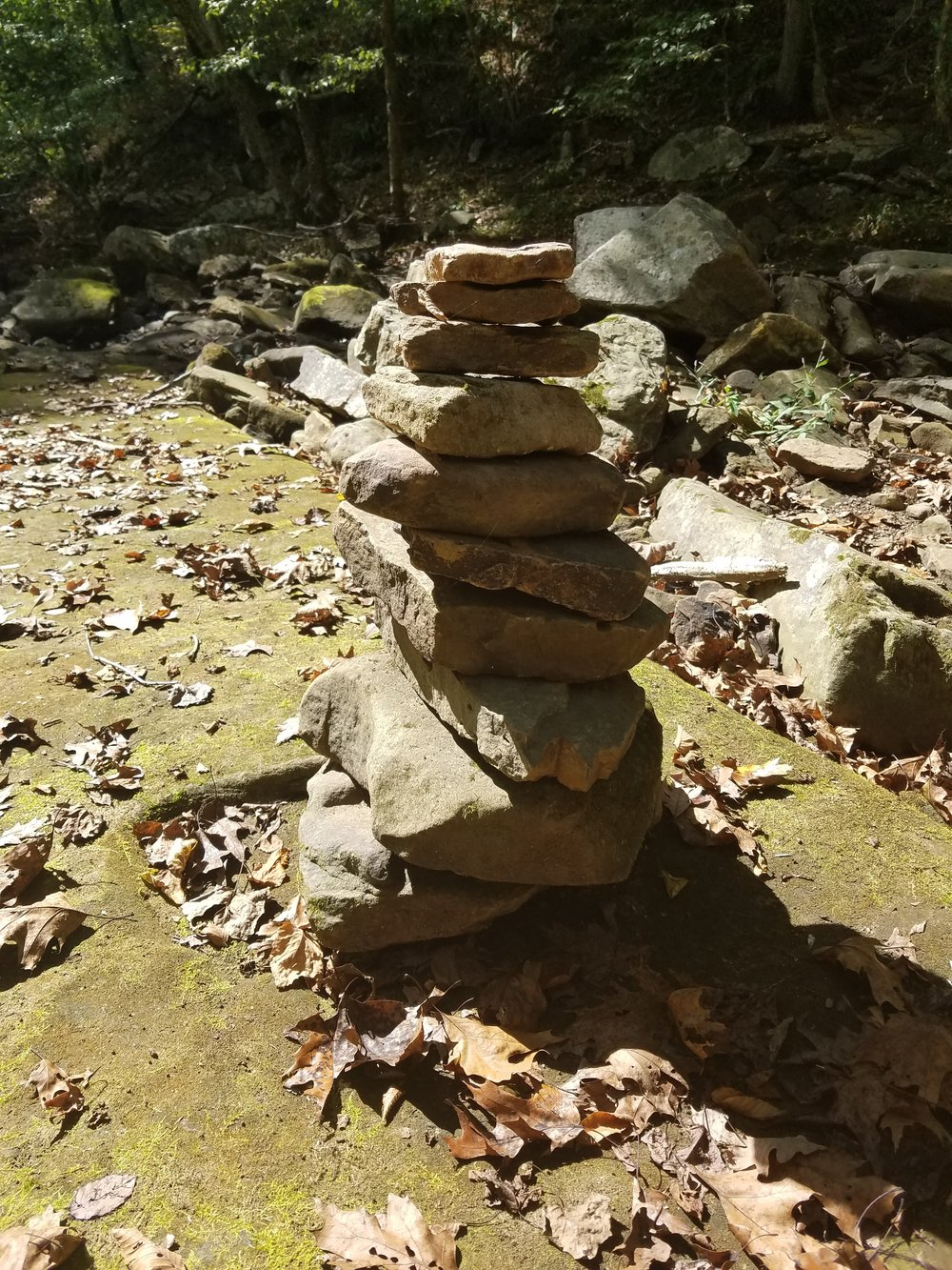 A rock stack I found in a dry creek bed.