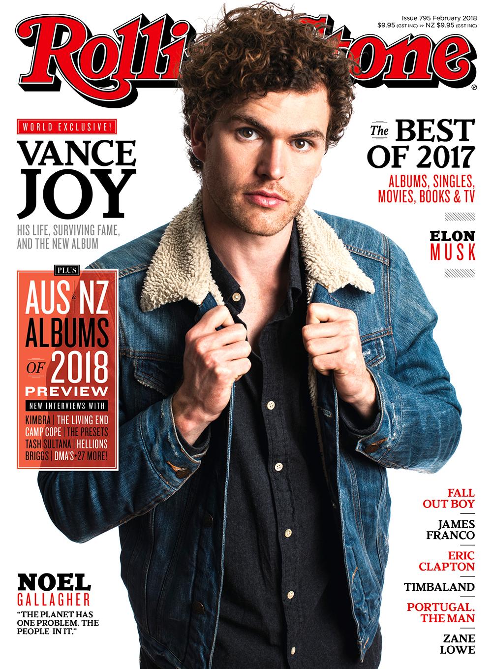 Vance Joy for Rolling Stone Australia, Feb 2018