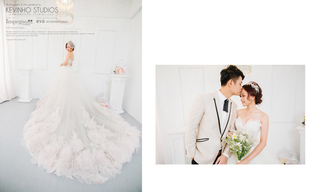 And we just had to put Rynnie in front of a pure white background to accentuate her beautiful gown!