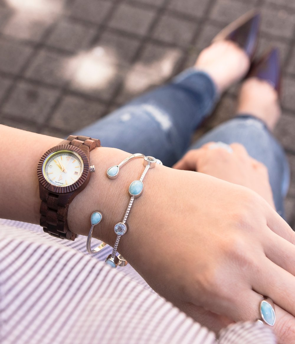 Sandalwood Mother of Pearl Watch