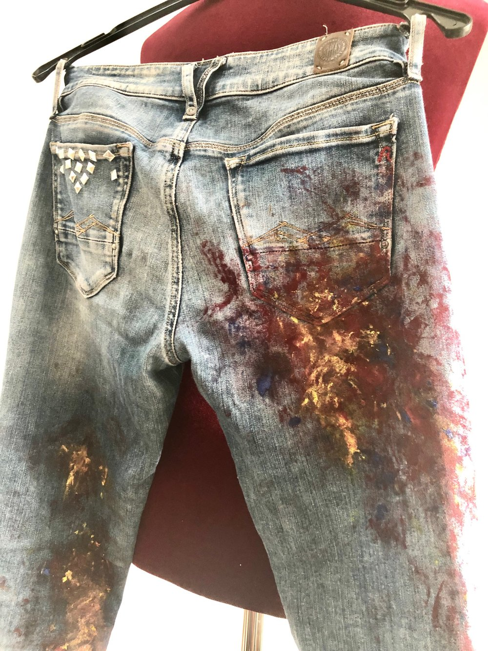 """upcycled Art jeans """"Adventure"""""""