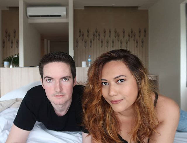 HOW TWO PEOPLE FROM OPPOSITE ENDS OF THE WORLD MET AND FELL IN LOVE 💛 Some of you guys may already know that we met while he was travelling and I was visiting friends in Langkawi but what you don't know is that we met completely by chance due to a series of serendipitous last minute decisions and we were introduced thanks to a wanted international con man! (Not kidding!) 😂 The tiniest fluke would have changed our course forever and we might not have met at all. It's a wild story - ask us the next time you see us! 😉  P.S. #throwback photo