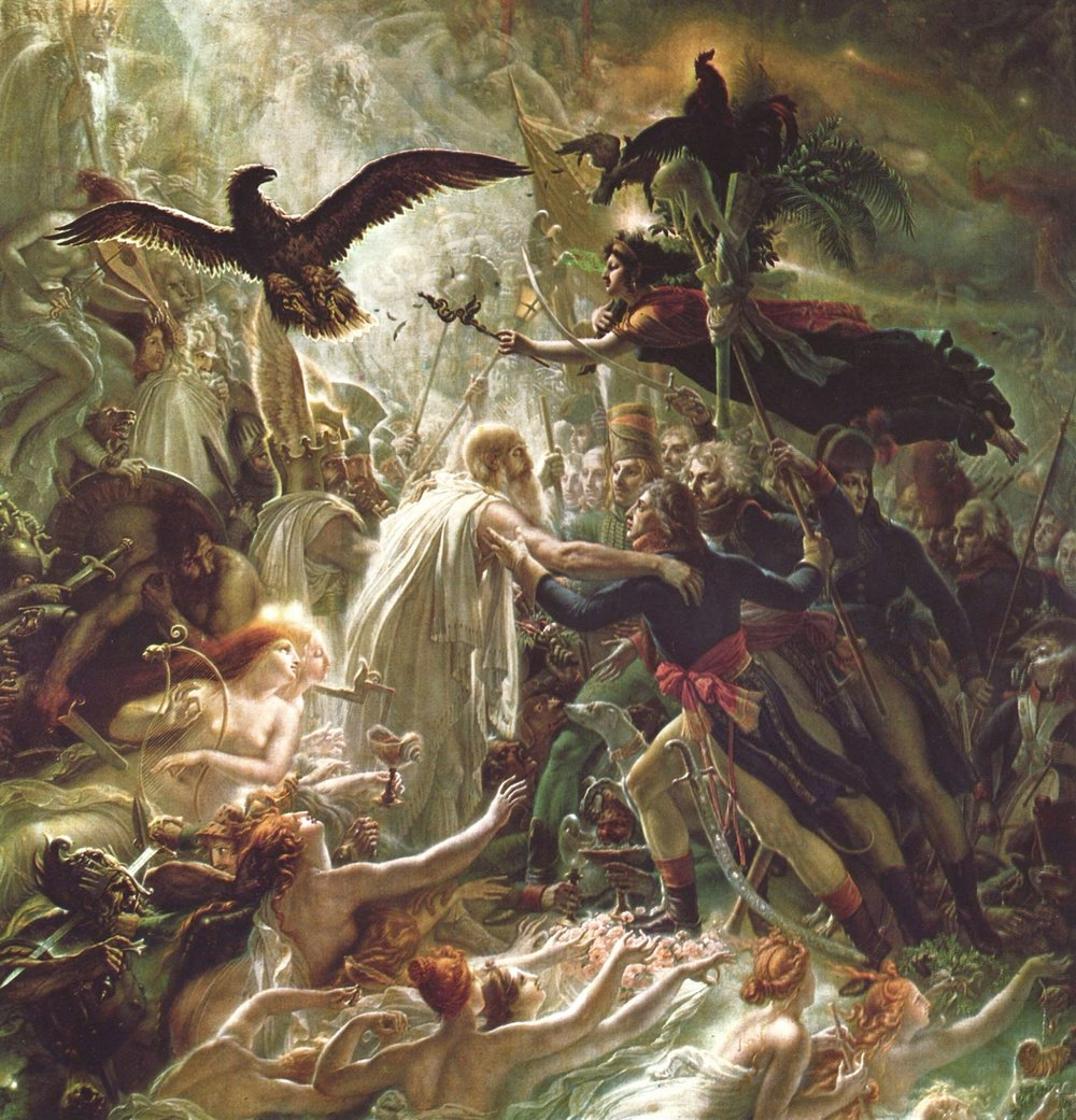 Ossian Receiving the Ghosts of Fallen French Heroes, Anne-Louis Girodet, 1805.