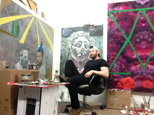 Stephen Morris in his studio.