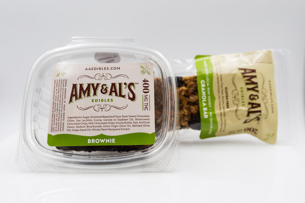 AMY & AL'S Cannabis 400mg Brownie and 200mg Granola Bar