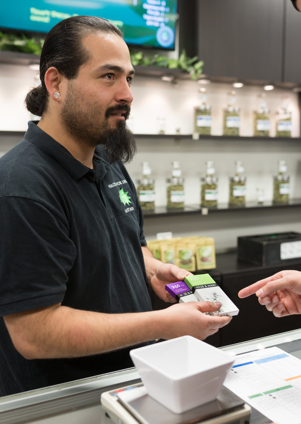 Dispensary Agent Chris B educating on the benefits of Medical Marijuana.