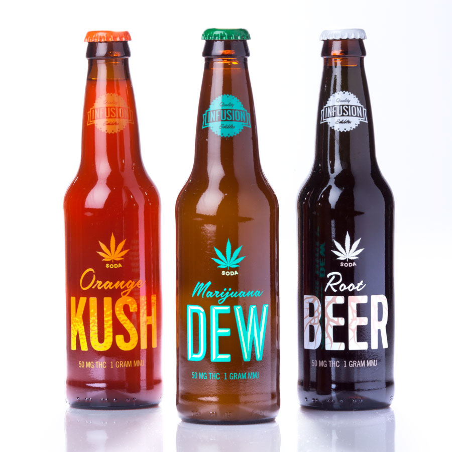 Infusion Soda comes in Orange Kush, Marijuana Dew, Rootbeer, and Red Cream!