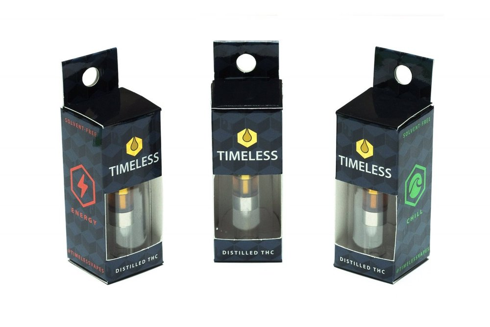 TImeless makes Sativa, Hybrid, and Indica Cartridges in a variety of medicinal strains