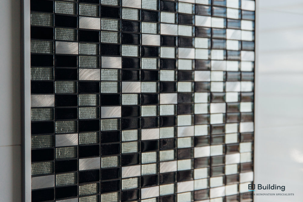 Mosaic bathroom tiles, great for bathroom renovation ideas.