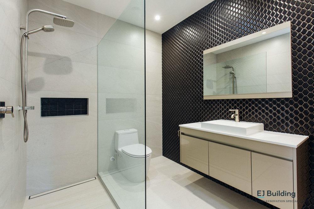 Mosaic tiles in modern / contemporary bathroom
