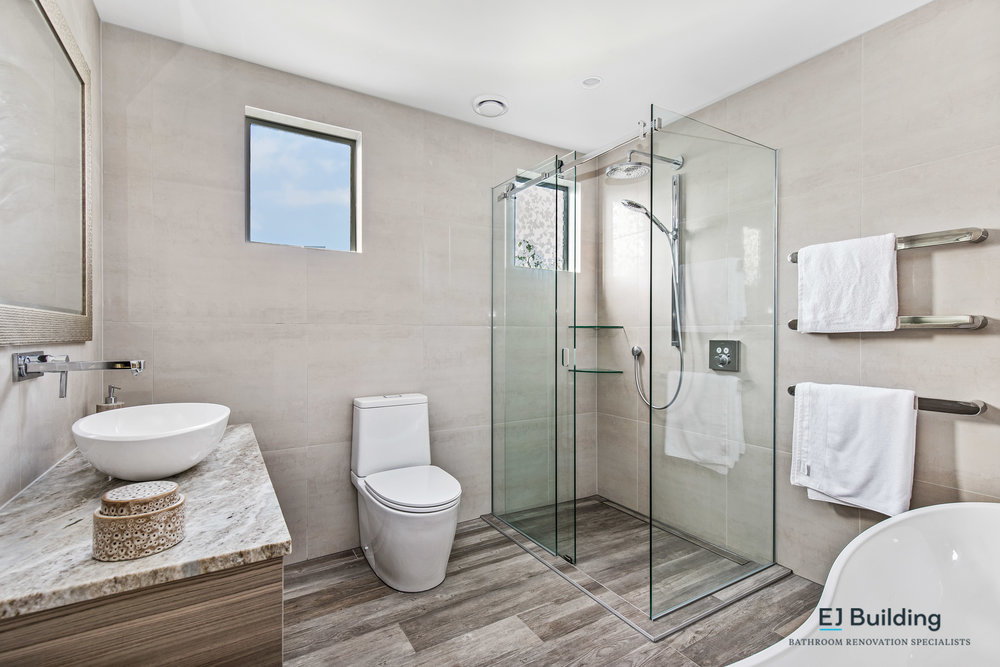 E J Building Auckland bathroom renovator