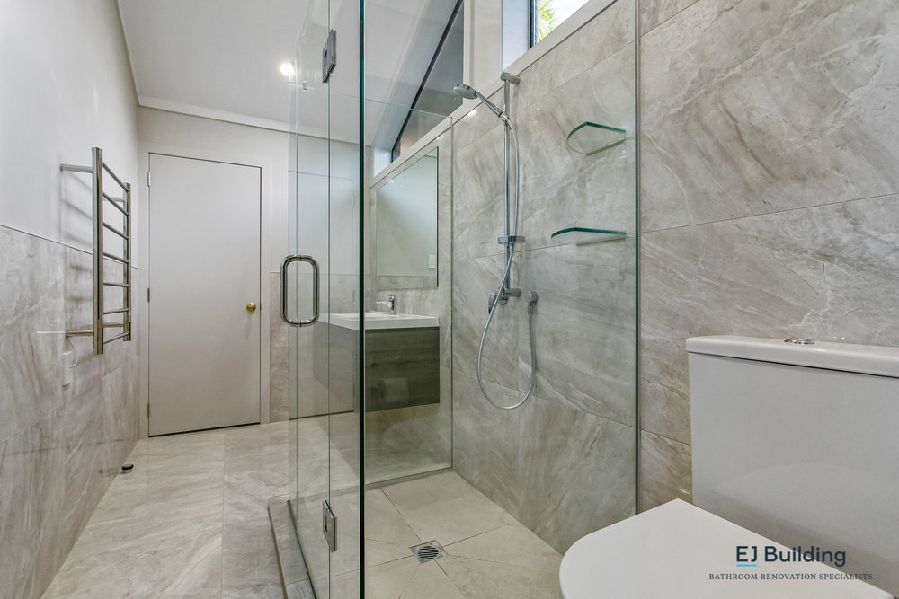 The whole floor of the ensuite bathroom was waterproofed to ensure their were no problems in the years to come.