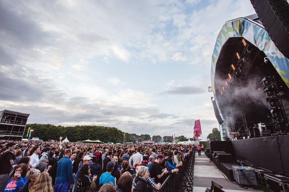 Belsonic's stage in the heart of Ormeau Park