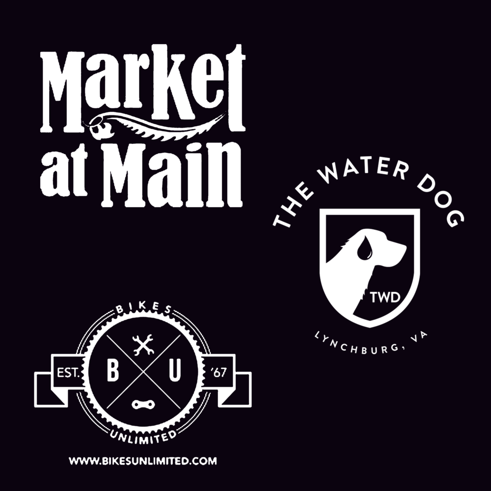 """Get Downtown"" - Market at Main - $50.00 gift certificate and t-shirtWaterdog - $50.00 gift cardFour (4) Bikes Unlimited gift cards"
