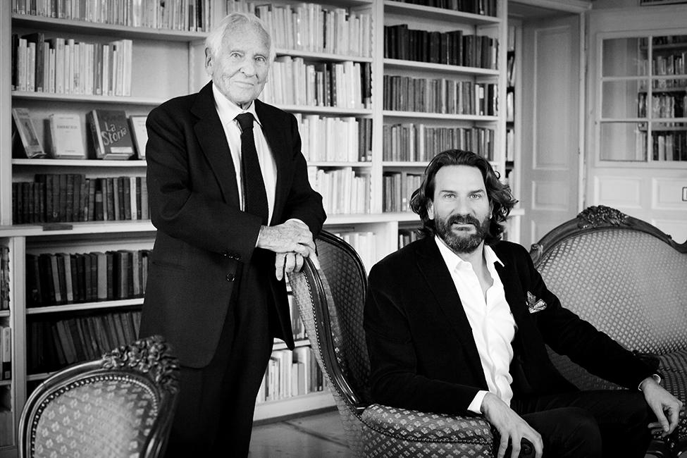 Jean D'Ormesson et Frederic Beigbeder, 2012