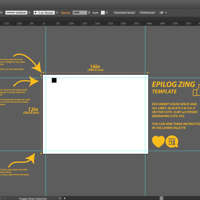 Laser cutter Illustrator templates — VCUQ FabLab
