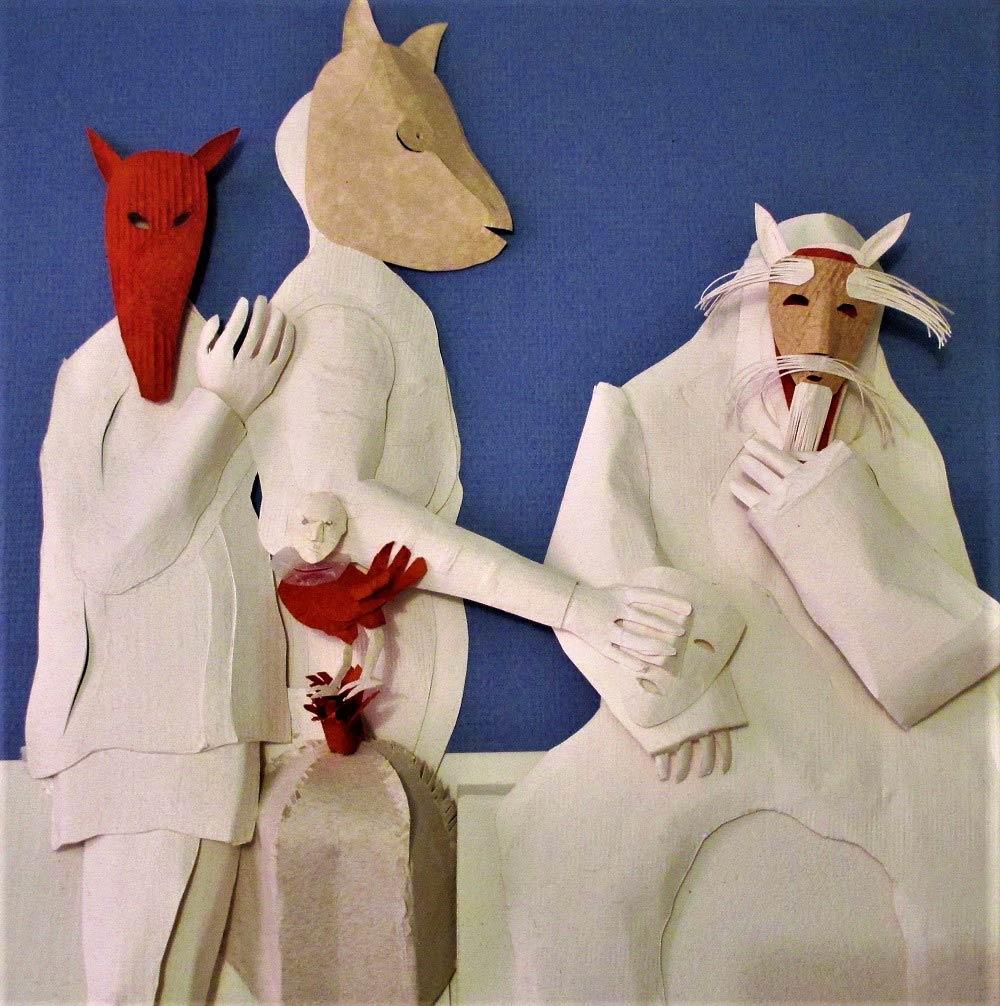 Máscaras Escultura de Papel (30x30 cm)