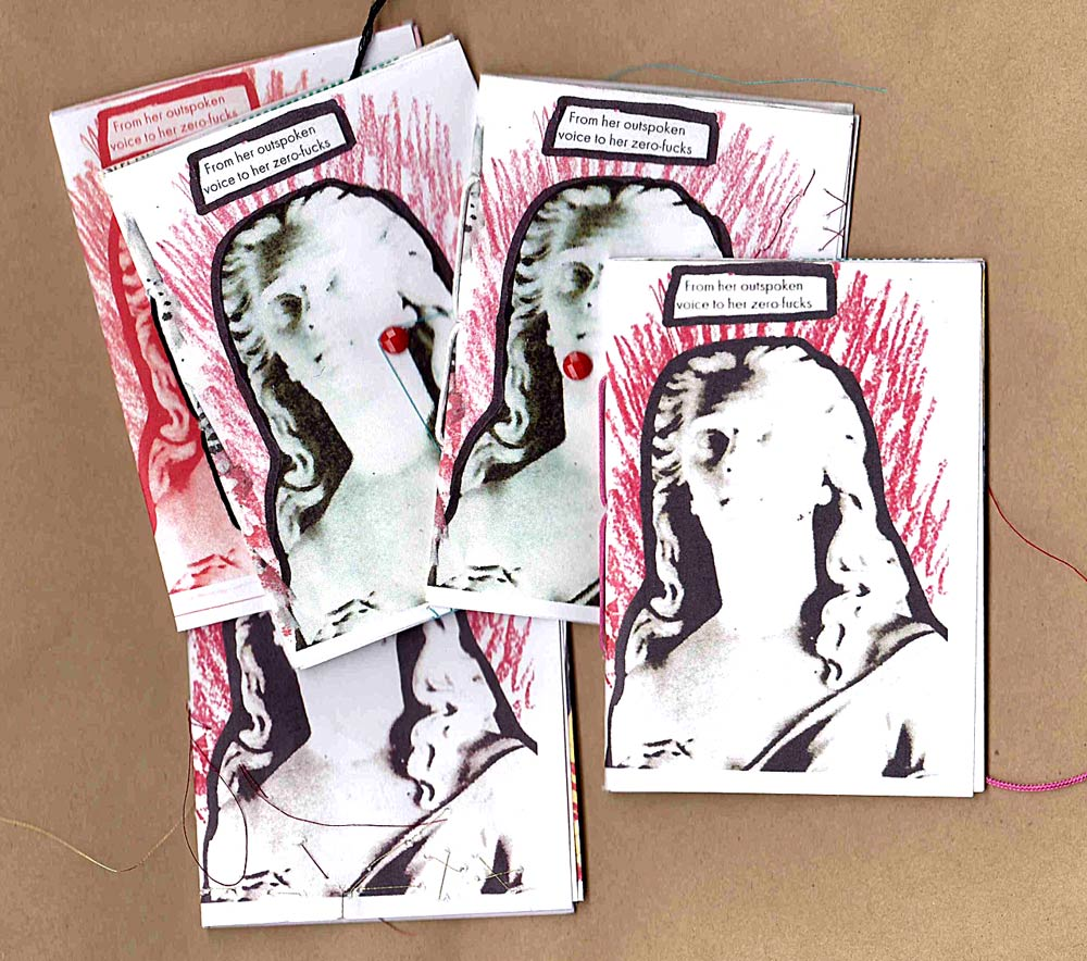 "Embellished ""From Her Outspoken Voice"" Zine"