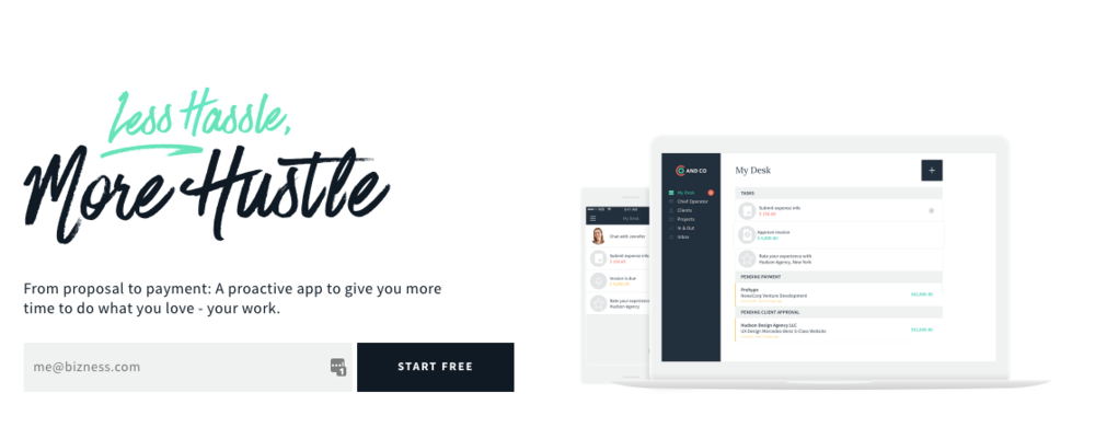 And Co is the perfect invoicing, contract, and time tracking tool for virtual assistants