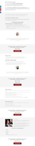 Sales page template for a virtual assistant