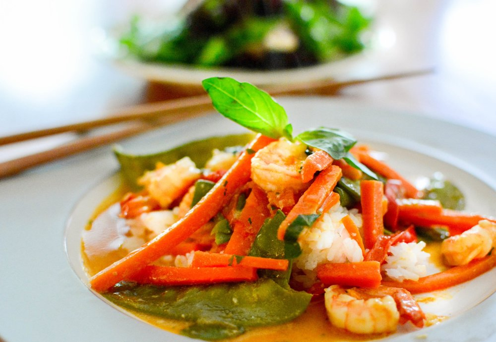 speedy thai shrimp curry