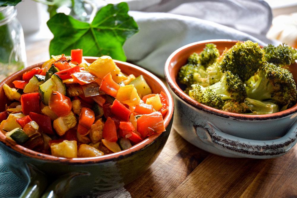 finished roasted vegetables