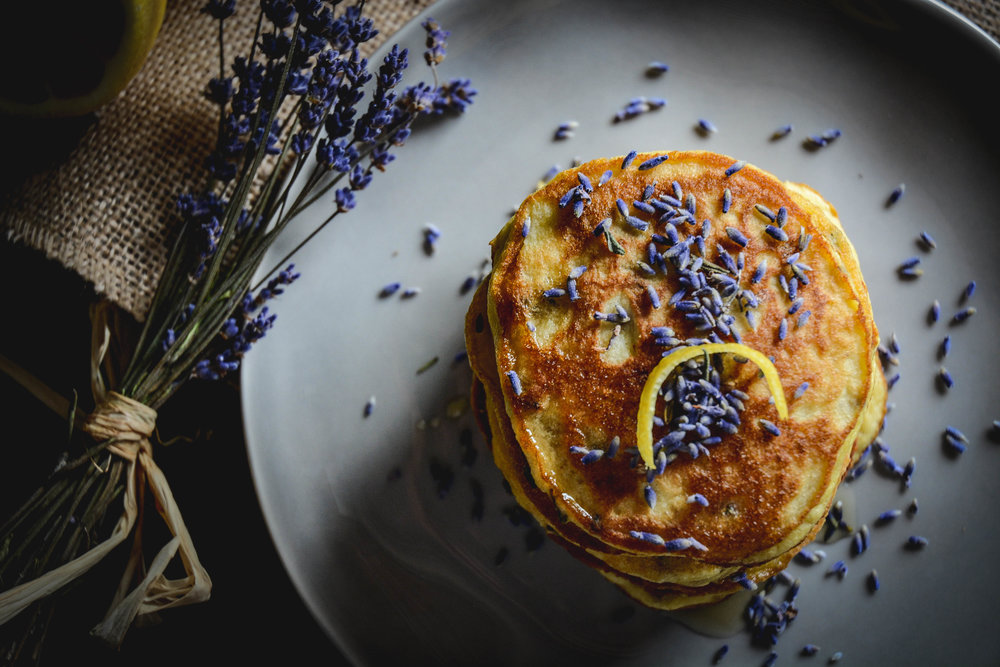 pancakes and lavender