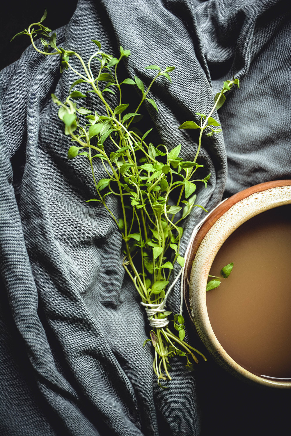 thyme and bone broth