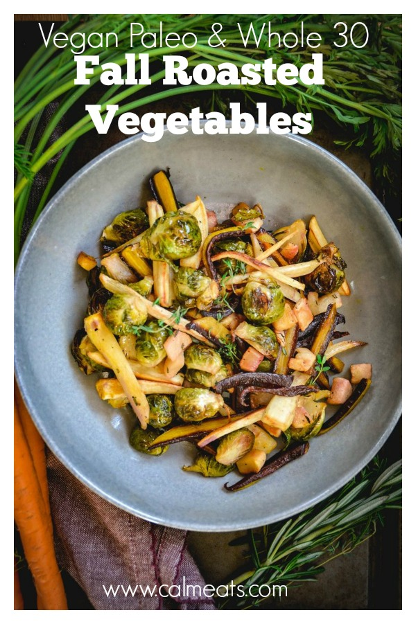 Roasted root vegetables and fall weather are a match made in heaven. Once the weather gets cooler, I crave the fresh and warming flavors of these earthy root vegetables. Whether you use them on their own or as a side for Thanksgiving, these delicious veggies won't disappoint.  #thanksgiving  ,   #roastedvegetabes  ,  #rootvegetablse  ,   #vegan  ,   #paleo  ,  #whole30  ,   #vegetarians  ,   #holiday  ,  #calmeats