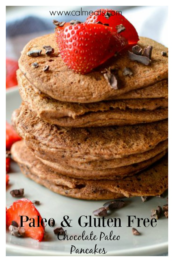 If you want an easy breakfast that's paleo, whole 30 and good for your gut too, these pancakes will be your go to. I make a huge batch of them and reheat them during the week. Perfect with almond butter, a drizzle of honey and cinnamon or some creamy coconut butter. #breakfast, #calmeats, #grainfree, #paleobreakfast, #glutenfree, #pancakes, #paleopancakes, #grainfreepancakes