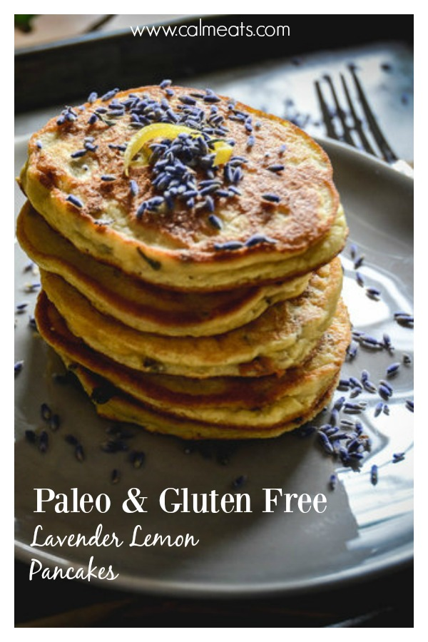 If you're looking for a way to liven up your breakfast, try these delicious paleo lavender lemon pancakes. they're a fantastic way to start the day! #paleo #lavender #culinarylavender #pancakes #paleopancakes #breakfast #paleobreakfast #paleobrunch #lemon #glutenfreebreakfast #grainfreepancakes #glutenfreepancakes #dairyfree