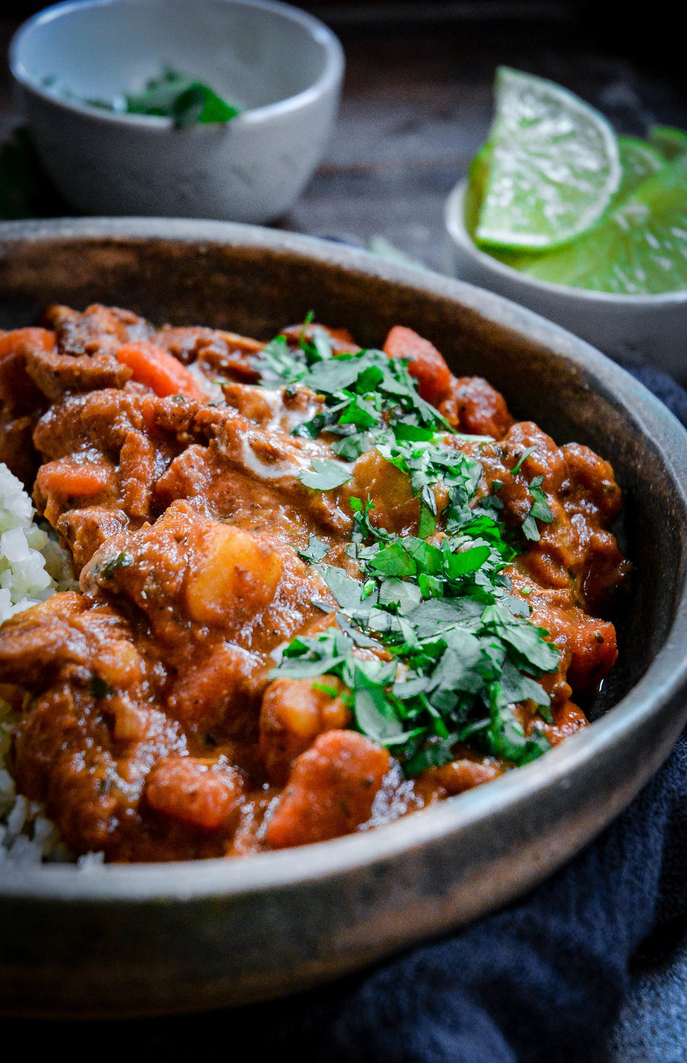 chicken tikka masala in bowl