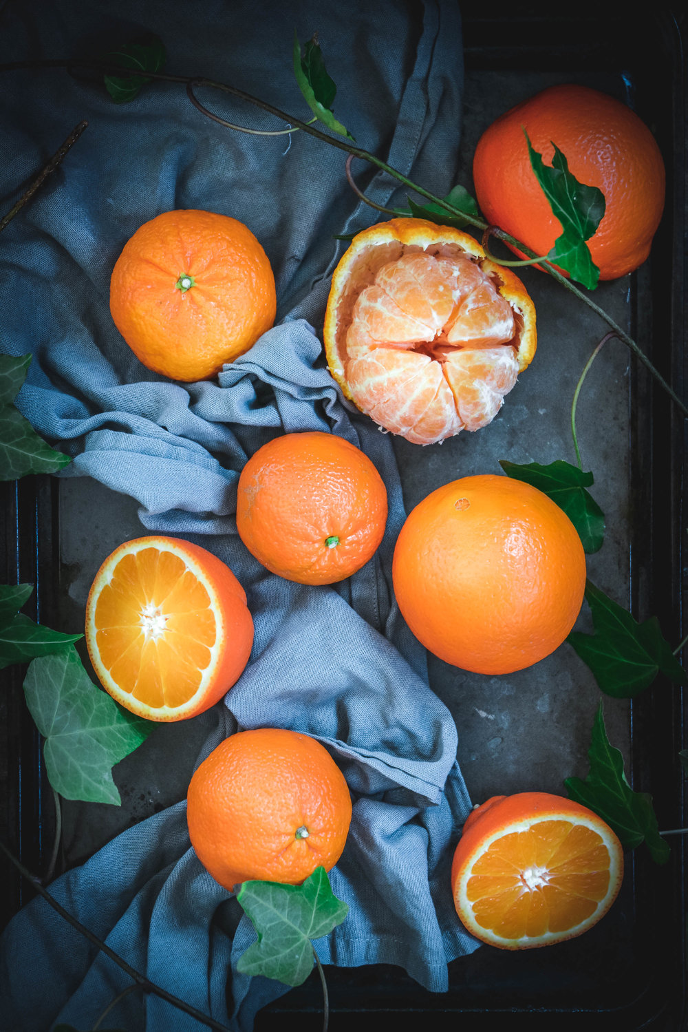 citrus on napkin