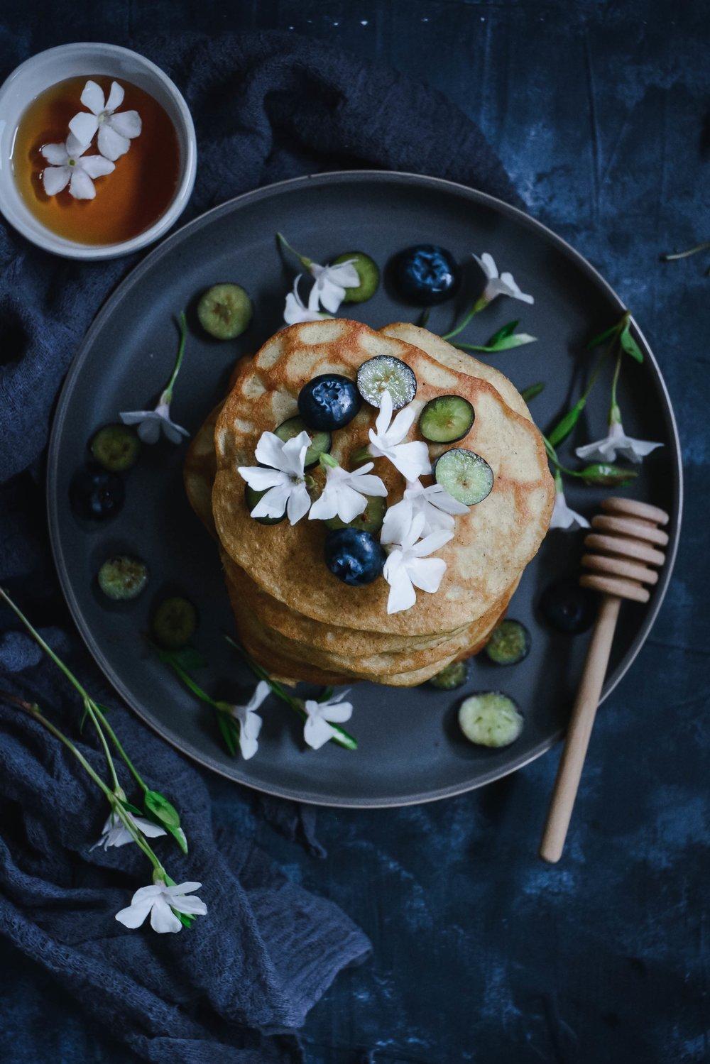 cardamom pancakes with orange blossom water