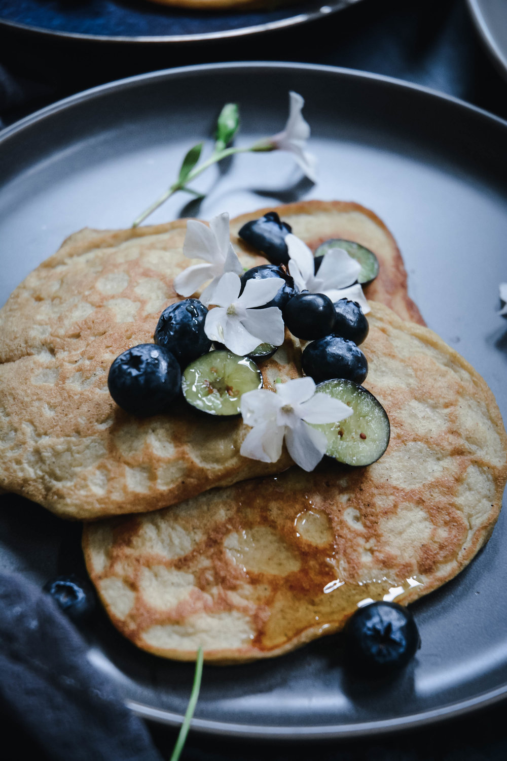 cardamom pancakes with orange blossom water