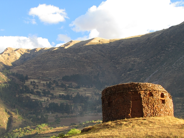 Urco - Hidden in The Sacred Valley   Off the beaten track, this rare circular Inca building near Urco, in the Sacred Valley of Peru, was constructed as a solar observatory, with windows marking the winter solstice.