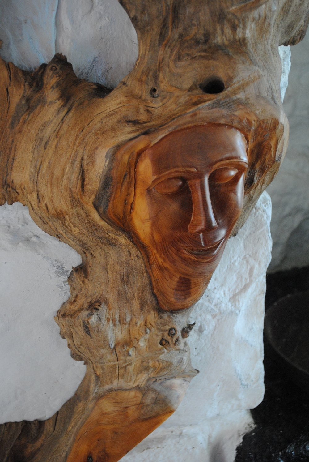 Celtic Goddess Hand-carved from Yew.