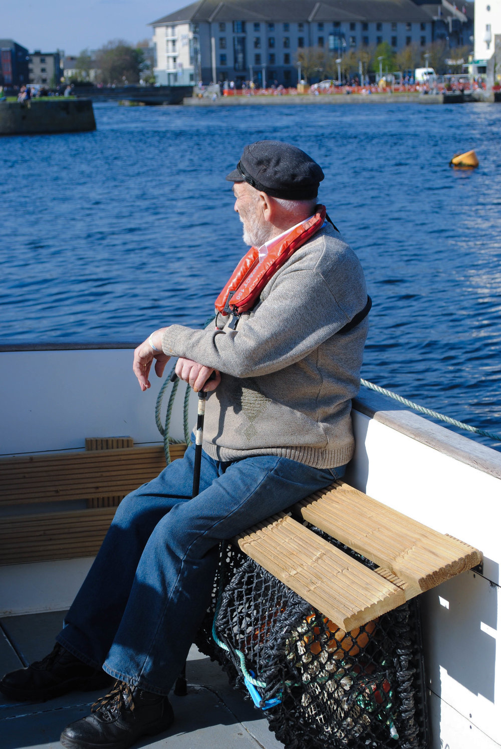 Claddagh life was built around traditional fishing culture. - Community boat tour with skipper Ciaran Oliver, one of the original Claddagh Families.