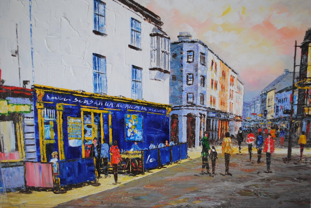 Galway Cityscape.  Original one off painting.  €250 Please  click here to enquire about this paining.  Cite #1