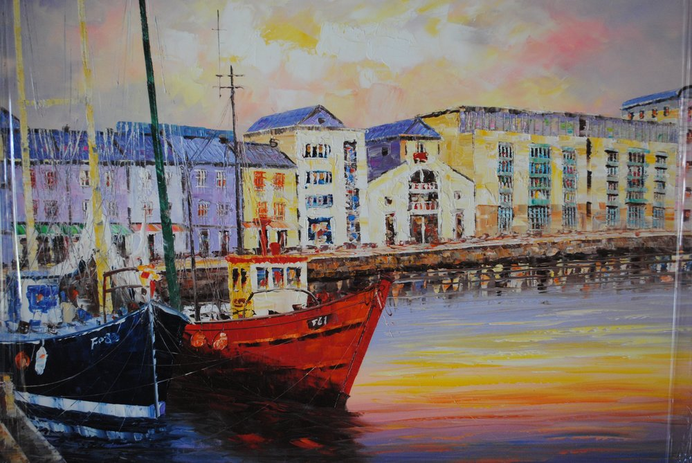 Galway Seascape.  Original Painting. €250 large - smaller €175  Please click on this link to enquire about this painting.   Cite #2