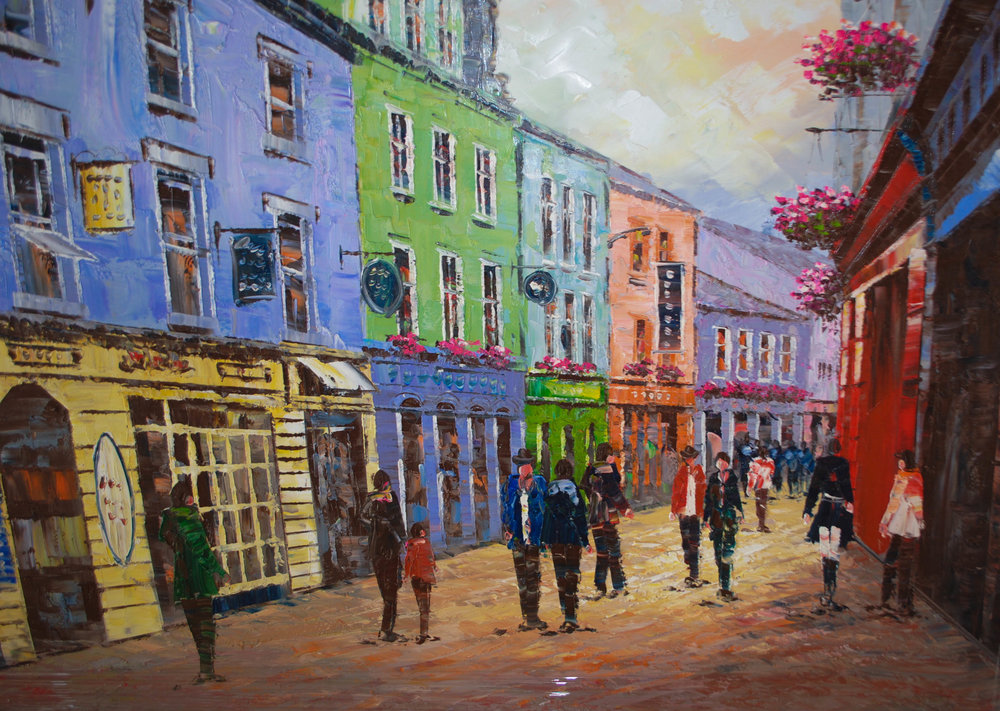 Galway City.  Original Painting.  €250  Please Click on this link to enquire about this painting.   Cite #3