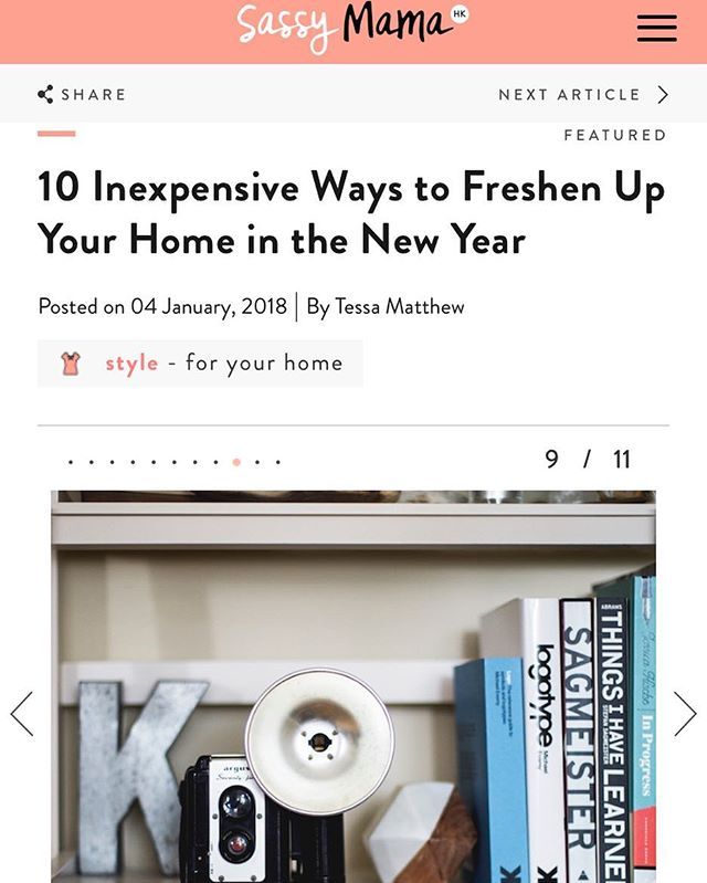 My top tips on how to freshen up your home - out now on @sassymamahk . . . . . . . #stylist #homestylist #interiorstylist #homestyling #toptips #homemakeover #declutter #sassymamahk #sassy #sassymama #hongkonghomes #newyearnewhome