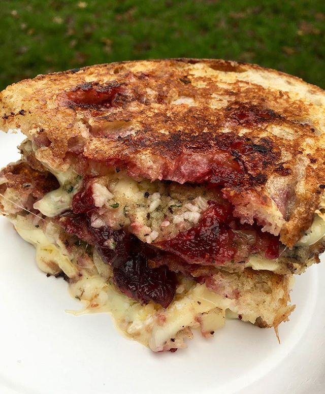 🧀Are 🧀You 🧀Ready...? Our Christmas grilled cheese is back for the festive season 🌟 Our secret two cheese mix with Wicklow Brie, herb stuffing and cranberry sauce on delicious sourdough bread from our friends @firehousebread 🍞 🙌🏻
