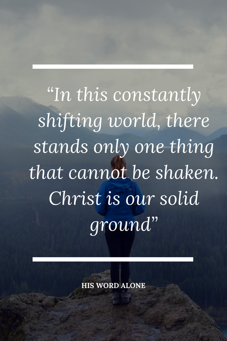 Finding assurance in Christ in a shifting world.