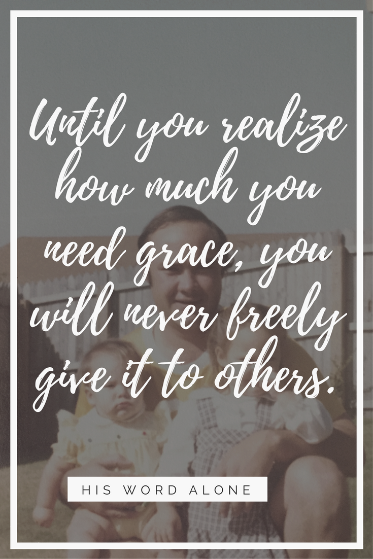 Learning to receive and give grace in the life of a family.
